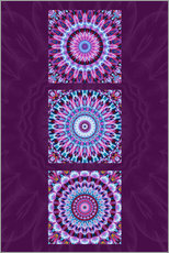 Vinilo para la pared Mandala Collage purple