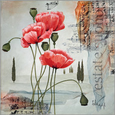 Vinilo para la pared  Poppies - Franz Heigl