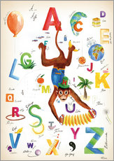Cuadro de plexi-alu  ABC Alphabet animals, colours and more - Heike Udes
