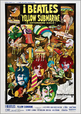 Vinilo para la pared  The Beatles, Yellow submarine