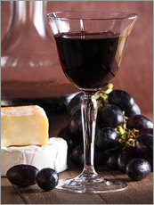 Vinilo para la pared  Cheese platter with wine - Edith Albuschat