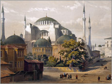 Vinilo para la pared  Turkey: Hagia Sophia, 1852. - Louis Haghe