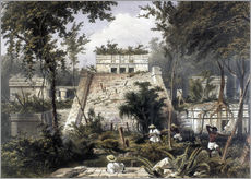 Vinilo para la pared  Mexico: Tulum, 1844. - Frederick Catherwood