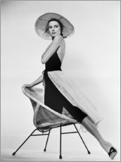 Vinilo para la pared  Grace Kelly with hat