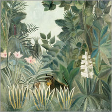 Vinilo para la pared  Equatorial jungle - Henri Rousseau