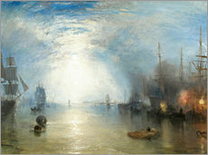 Vinilo para la pared  Transportando el carboón a la luz de luna - Joseph Mallord William Turner