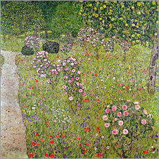 Vinilo para la pared  Orchard with roses - Gustav Klimt