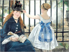 Vinilo para la pared  The Railway - Edouard Manet
