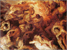 Vinilo para la pared  Detail of the 'Small' Last Judgement - Peter Paul Rubens