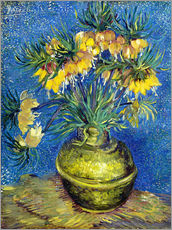 Vinilo para la pared  Fritillaries in a Copper Vase - Vincent van Gogh