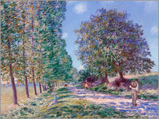 Vinilo para la pared  Poplar Avenue at Moret on the Loing - Alfred Sisley