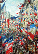 Póster  Rue Montorgueil in Paris in the celebrations at 30 June - Claude Monet