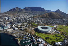 Vinilo para la pared  Cape Town Stadium and Table Mountain - David Wall
