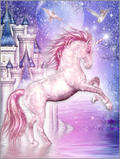 Vinilo para la pared  Pink Magic Unicorn - Dolphins DreamDesign