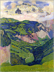 Vinilo para la pared  Jungfrau mountain, seen from Isenfluh - Ferdinand Hodler