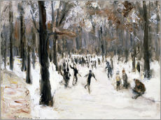 Vinilo para la pared  Skaters in Tiergarten park - Max Liebermann