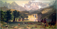 Vinilo para la pared  Indian camp in the Rockies - Albert Bierstadt