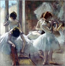 Cuadro de plexi-alu  dancers Group - Edgar Degas