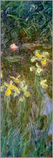 Vinilo para la pared  Narcisos en el campo - Claude Monet
