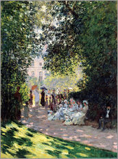 Vinilo para la pared  In the Park Monceau - Claude Monet