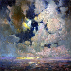 Cuadro de plexi-alu  The sea at sunrise - Soren Emil Carlsen