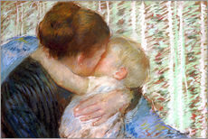 Vinilo para la pared  The Goodnight Kiss - Mary Stevenson Cassatt