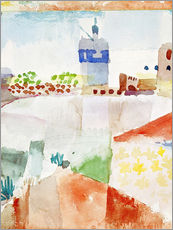 Vinilo para la pared  Hammamet with the mosque, 1914 - Paul Klee