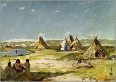 Cuadro de plexi-alu  Camp of the Indians in Wyoming - Frank Buchser