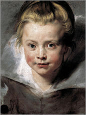 Vinilo para la pared  Head of a child (Clara-Serena Rubens) - Peter Paul Rubens