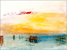 Lienzo  Venice, seen by Fusina - Joseph Mallord William Turner