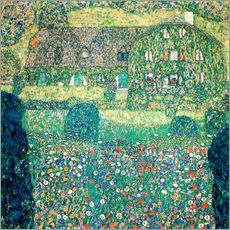 Vinilo para la pared  Country house on Attersee lake - Gustav Klimt