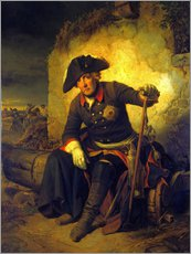 Cuadro de plexi-alu  Friedrich II. After the battle of Kolin - Julius Schrader