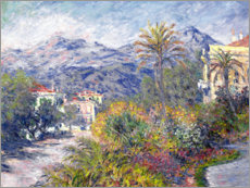 Cuadro de metacrilato  Villas en Bordighera - Claude Monet