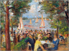 Cuadro de plexi-alu  Beer garden on the Havel river - Max Liebermann