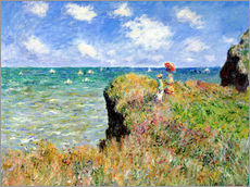 Vinilo para la pared  Camino en Pourville - Claude Monet