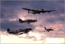 Cuadro de plexi-alu  Battle of Britain Memorial - airpowerart