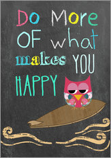 Vinilo para la pared  Do more of what makes you happy - GreenNest