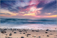 Vinilo para la pared  beach and purple sunset - Sascha Kilmer