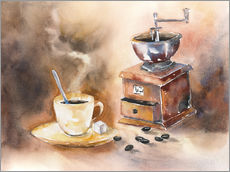 Cuadro de plexi-alu  The smell of coffee - Jitka Krause