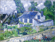 Póster  Houses in Auvers - Vincent van Gogh