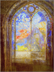 Vinilo para la pared  Church window - Odilon Redon