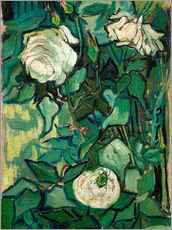 Vinilo para la pared  Roses and Beetle - Vincent van Gogh