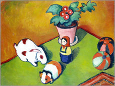 Vinilo para la pared  Juguetes de Walterchen - August Macke