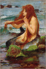 Cuadro de plexi-alu  Una sirena - John William Waterhouse