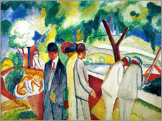 Vinilo para la pared  Cochecitos (Big Light Walk) - August Macke