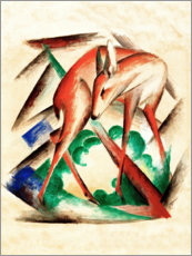 Póster  Deer (Red Deer) - Franz Marc