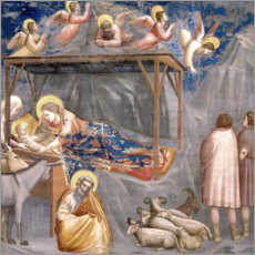 Cuadro de madera  The Nativity - Giotto di Bondone