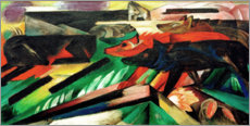 Cuadro de aluminio  The Wolves (Balkan War) - Franz Marc
