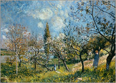 Vinilo para la pared  Fruit Garden in Spring - Alfred Sisley