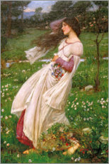 Póster  Flor del viento - John William Waterhouse